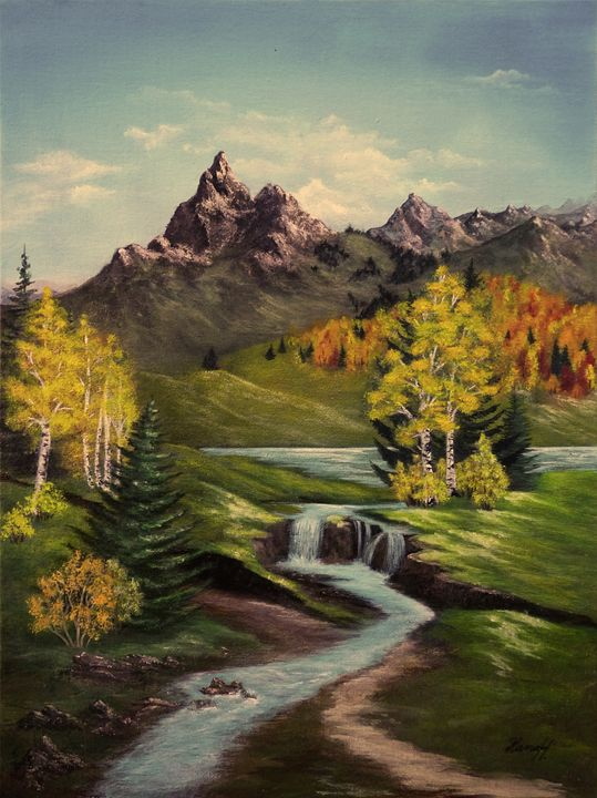 Autumn landscape - Hana Hladikova Art Studio