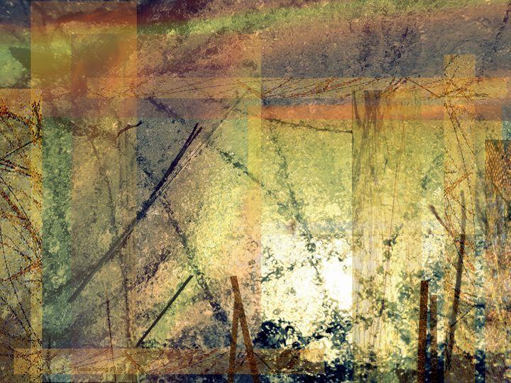 Dreams of a Golden  World 2 - Tussila Spring Fine art