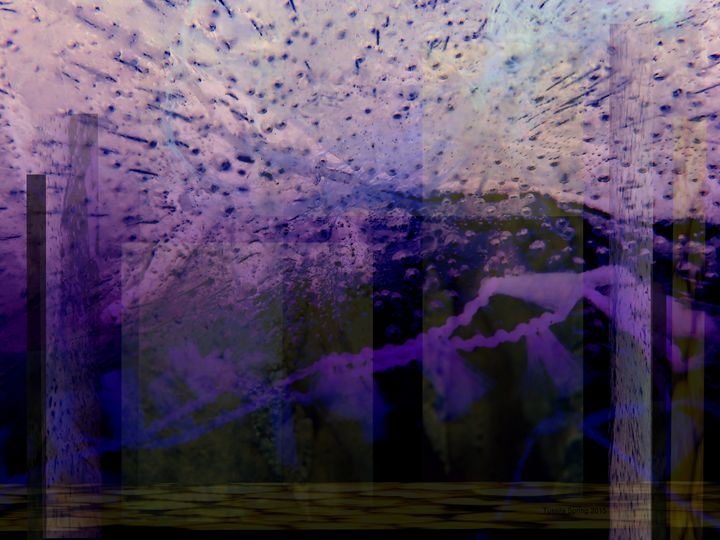 Purple Abstraction 1 - Tussila Spring Fine art