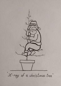 X-ray of a Christmas tree