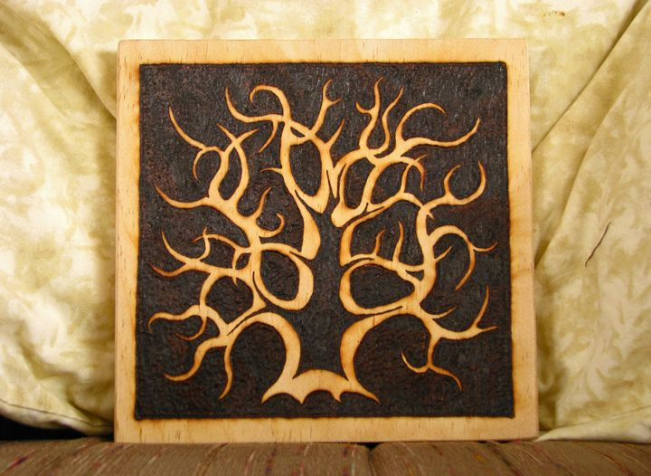 Heartwood - Wood burning by Dan Ross