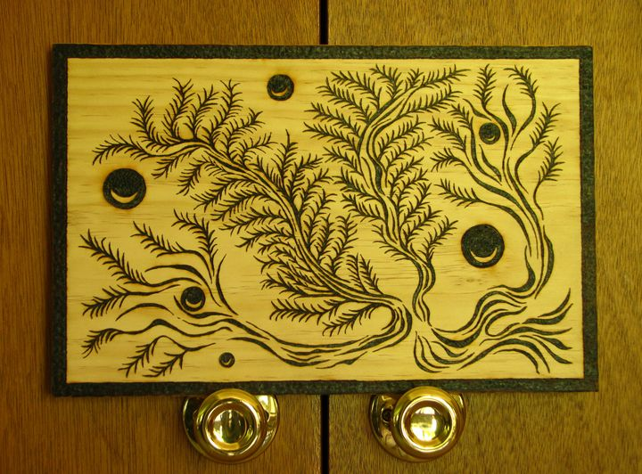 Fern Tree - Wood burning by Dan Ross