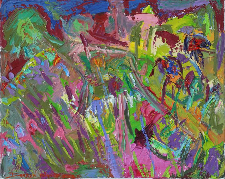 """Gardener"" abstract oil 2013 - Darren Bianco"