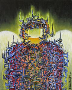 """Oil Painting """" Traveler"""" 2011"""