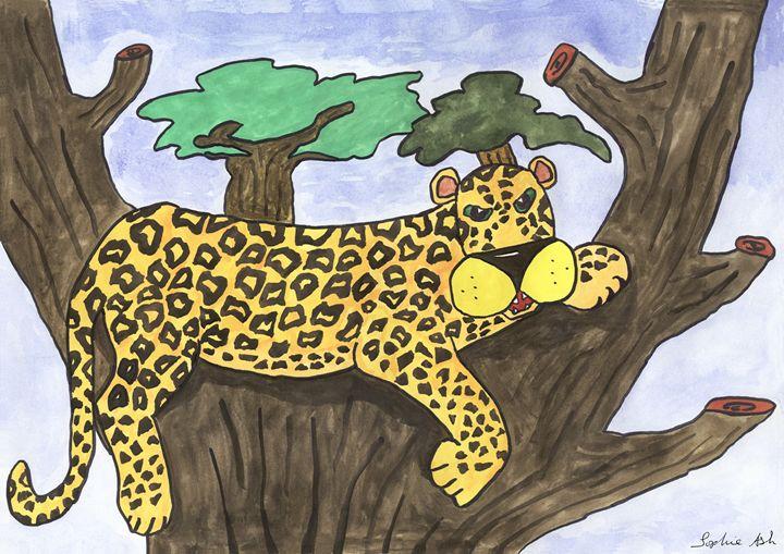 Leopard in Tree - Sophie's Menagerie