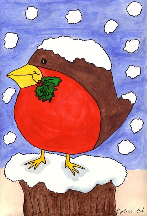 Christmas Robin - Sophie's Menagerie