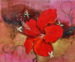 The rest-delicate love (hibiscus)