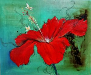 The rest-delicate love(hibiscus)