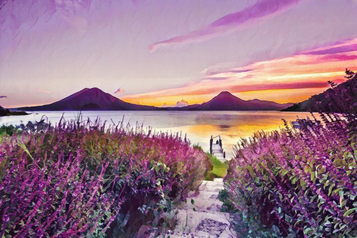 Purple Paradise - TRS Digital Designs