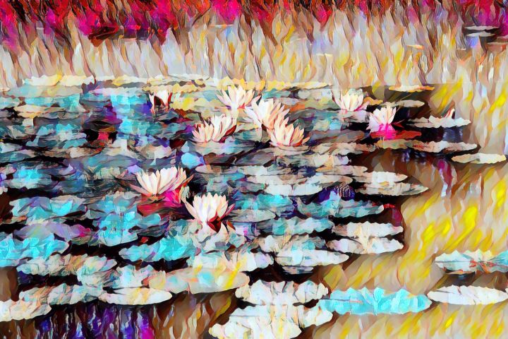 Abstract Waterlilies - TRS Digital Designs