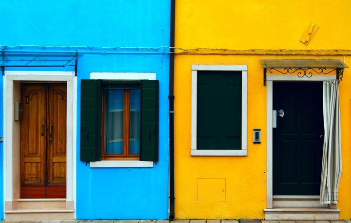 Burano island canal, colorful house - Adilena