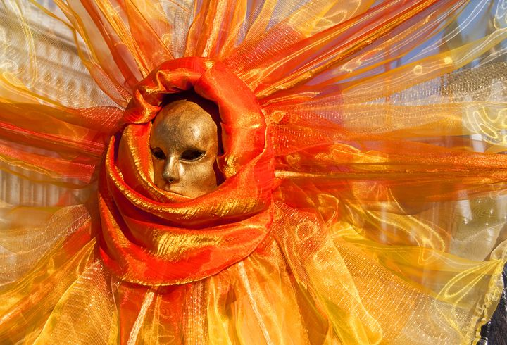 Beautiful mask at carnival in Venice - Adilena