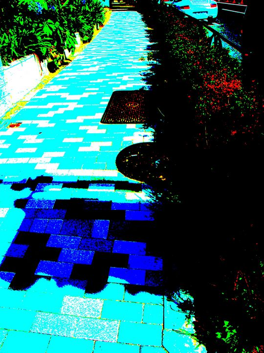 blue shadow street - Novo Weimar