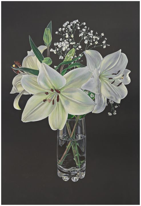 White Lilies - Madeline Parker Art