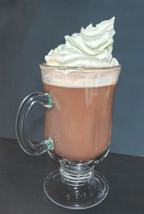 Frothy Hot Chocolate - Madeline Parker Art