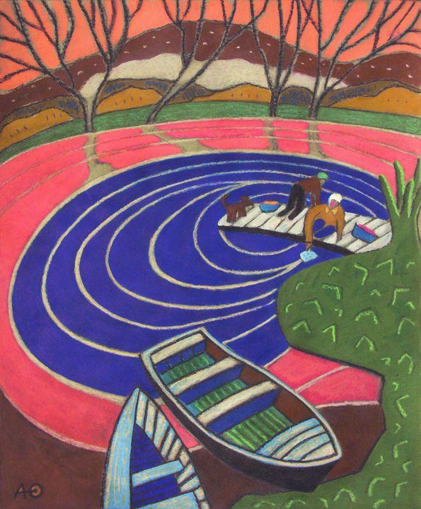 Circles on the water - Helga Alekhnovich