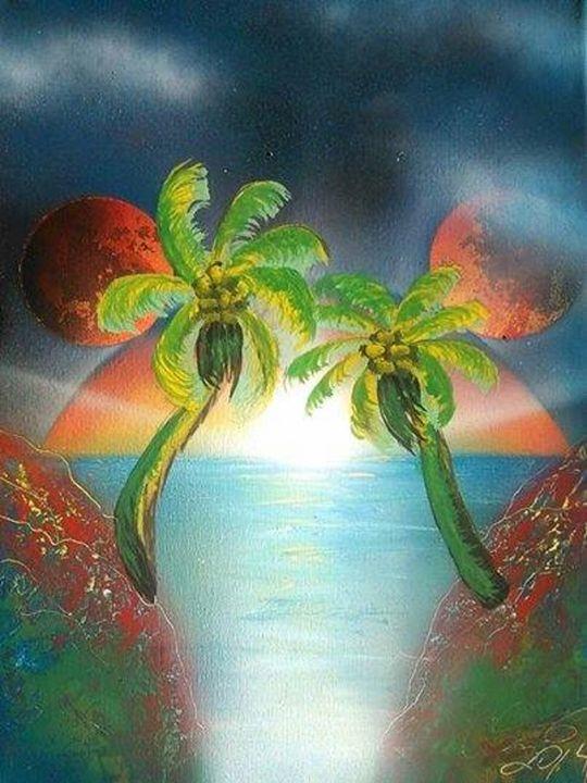 """First Palms"" Artwork by Callavinna - Artwork by Callavinna"