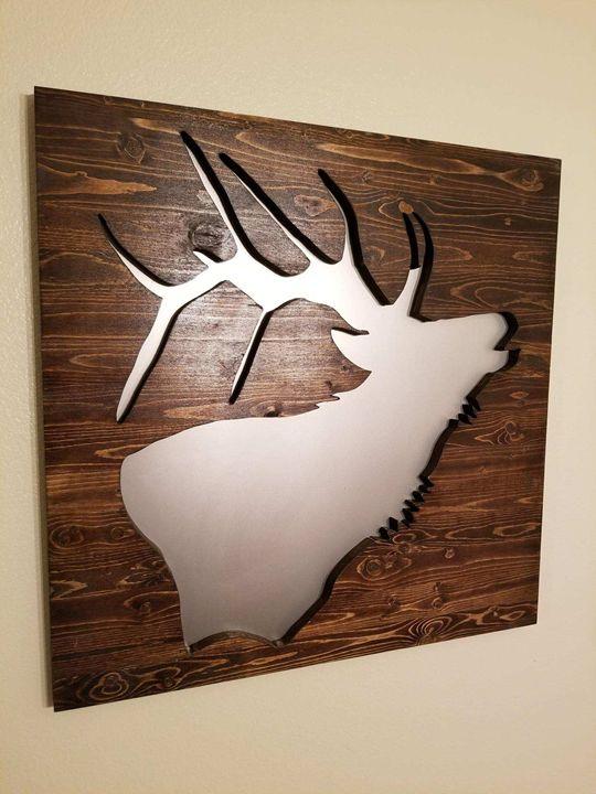 Elk Wood Wall Art - KayLee's Creations