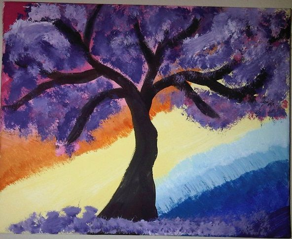 Purple Tree - Anarcho Art