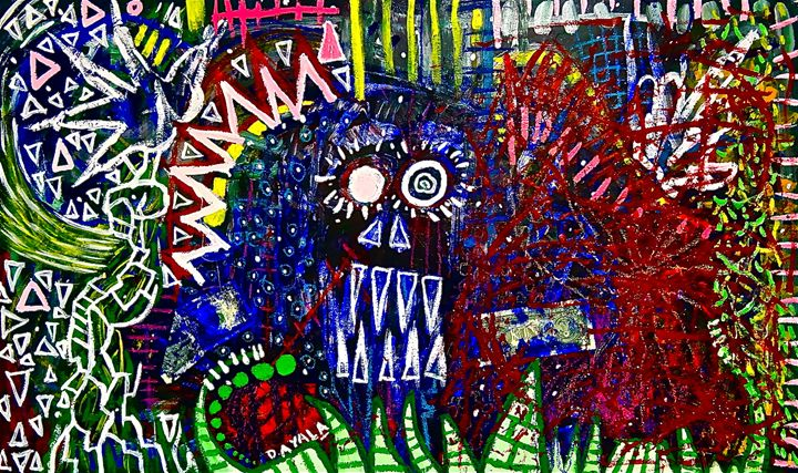 El Diablo Azul - Danny Ayala Mexican Artist