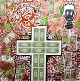 "36""x36"" Money and Acrylic on canvas."