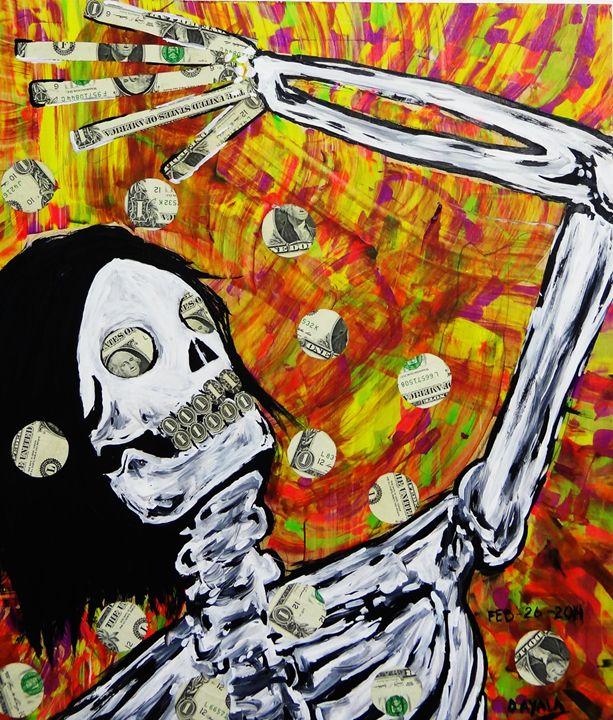 Death Money - Danny Ayala Mexican Artist