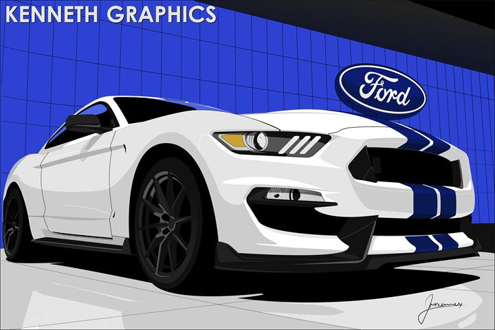 2016 Ford Mustang GT350 LA Autoshow - Kenneth Graphics