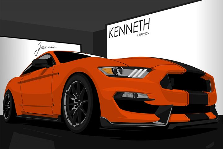 2016 GT350 Orange and Black - Kenneth Graphics
