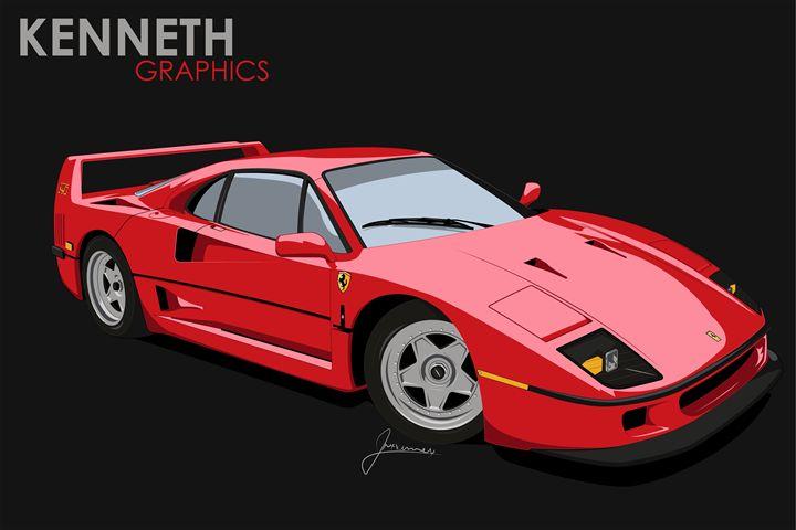 Ferrari F40 - Kenneth Graphics