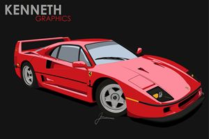 Ferrari F40 - Kenneth Graphics