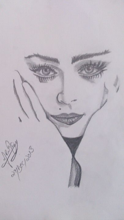 Charming Lady with Gorgeous Eyes - Pencil Shading
