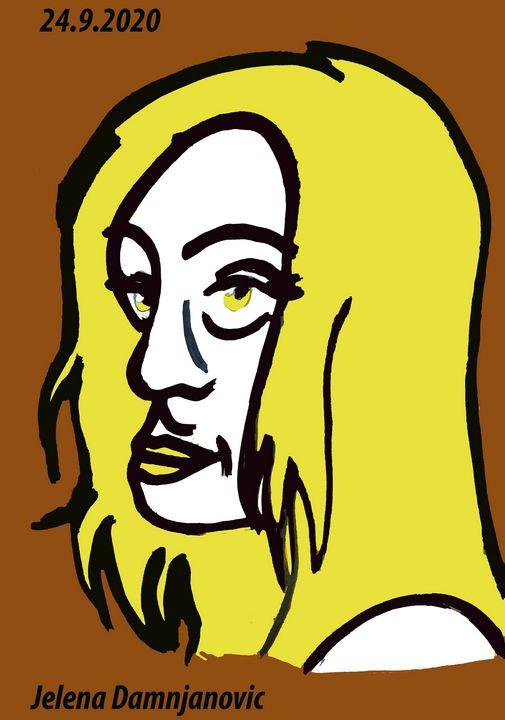 Yellow woman - Jelena Damnjanovic