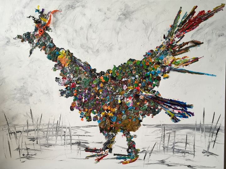 Big Bird Number Two - Painting France and America