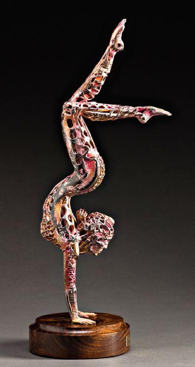 """""""Handstanding Yoga Girl"""" original - Pierre Riche Art"""
