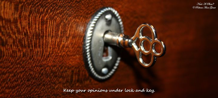 Lock And Key With Quote - Need-A-Photo?