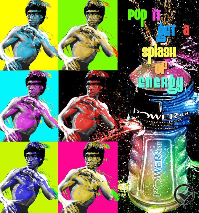 Pop Art Bruce Lee - blackdyemondart