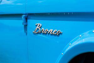 Blue Bronco Truck