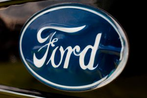 Blue Ford Emblem