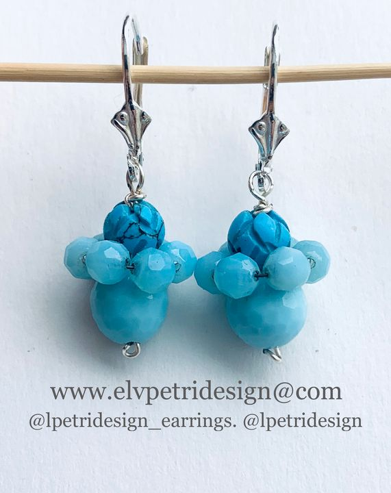 Turquoise glass earrings - L'Petri Design/Art