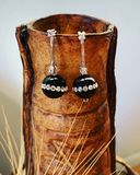 Black Onyx/CZ earrings