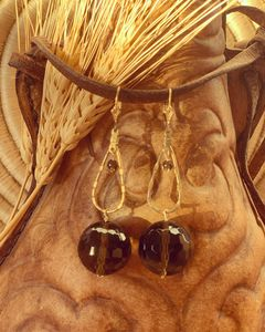 Facet Smoky Topaz Earrings