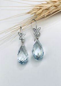 Earrings/faceted crystals - L'Petri Design/Art
