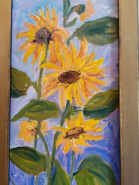 """""""Sunflower Stack"""", 2017 - Wilda Fortune"""