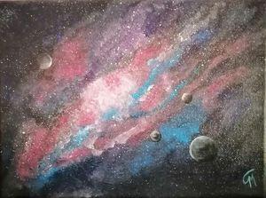 On black canvas (universe)