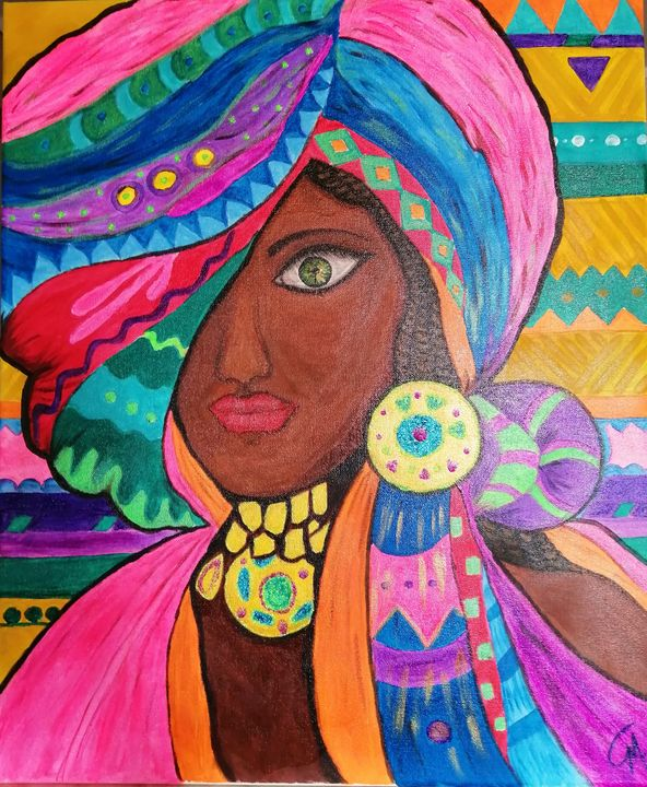 Colourful African beauty - Giota Misiou GMart