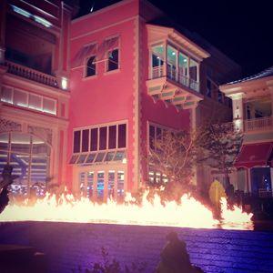 Fire on water Bahamar
