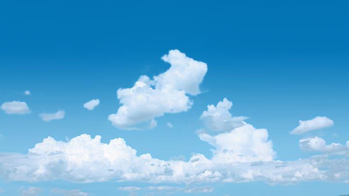 Cloudy Blue Sky - BlockedGravity