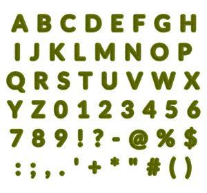 Green Grass Alphabet - 10500 x 9800