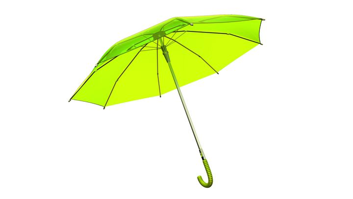 Stylish Transparent Umbrella - Green - BlockedGravity