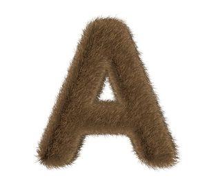 Brown Fur Letter - A